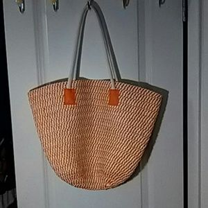 Handbags - Bag, orange/cream color